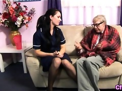 fetish euro nurse t live without old cock