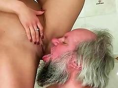 beauty punishing and fucking a granddad