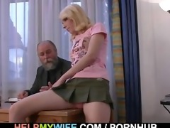 old chap pays him to fuck his young wife