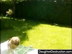 young legal age teenager daughter brutally
