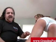 grandpa jeremy eats young pussy