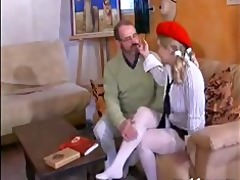 french teen with aged man