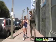 youthful daughter screamer bonks a black shlong 26