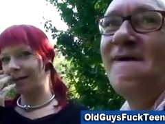 old guy blowjob by hot younger babe
