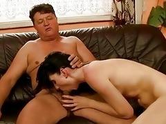 pretty girl has nasty sex with grandpapa