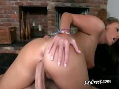 breathtaking cute students sucking her boyfriend
