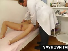 a cunt check-up on hidden cam