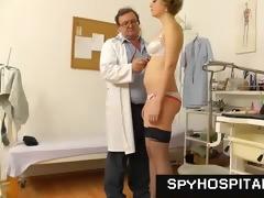 mature gyno doctor operates a hidden cam