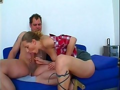 lascivious chick gives lascivious dad some head