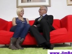 golden-haired in nylons and old man