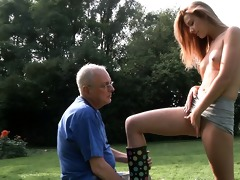 grandad cleans and fuck alexis\s hairless snatch