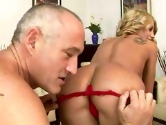 old guy fucking and licking young angel