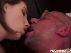 old man gets a young blowjob