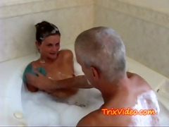 daddy bathes his legal age teenager step-daughter