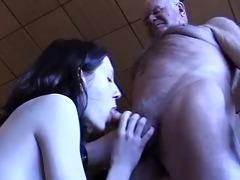 grand-dad acquires a blowjob