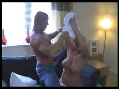 sexy muscle daddy receives bj from a fortunate