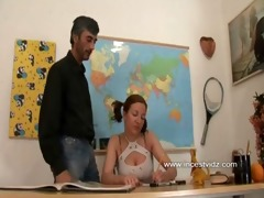 blonde lustful daughter and dad