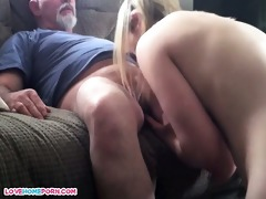 dad copulates her younger male lover