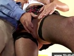 british gal in stockings blows old man